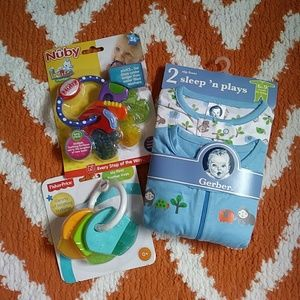 Baby Bundle Sleep and Plays and teething rings